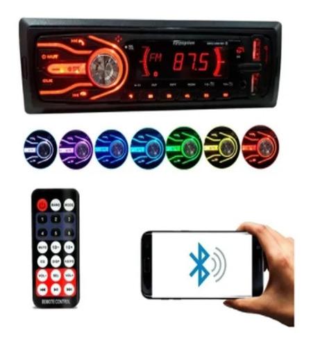 Imagem 1 de 7 de Mp3 Player Carro Som Automotivo Bluetooth 2 Usb Sd 7 Cores