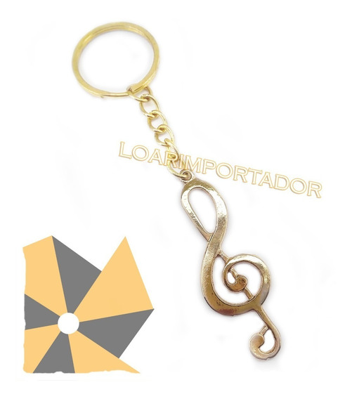 100 Souvenir Llaveros Clave De Sol Dorado Plateado Bailarina