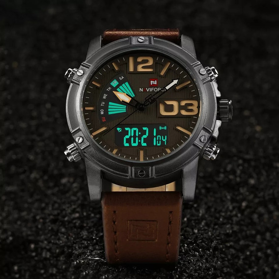 Relógio Masculino Naviforce 9095 Militar Original