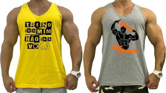 Kit 2 Regatas Masculina Cavada Academia Treino Musculação
