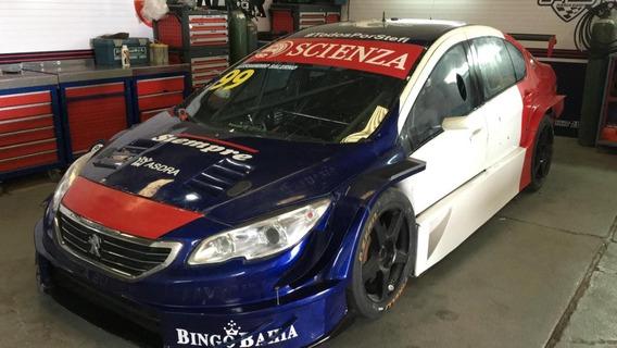 Auto De Carrera Competición Peugeot 408 Llantas Repuestos