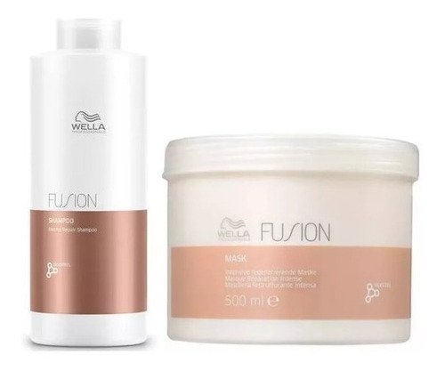 Imagem 1 de 1 de Wella Fusion Kit Shampoo Litro + Mascara 500 Ml Fusion Wella
