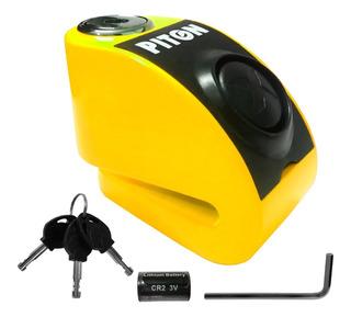 Traba Disco Candado Piton Con Alarma Z6 6mm - Sti Motos
