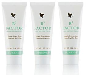 Creme R3 Factor Skin Defence - 3un - Forever- 12x Sem Juros