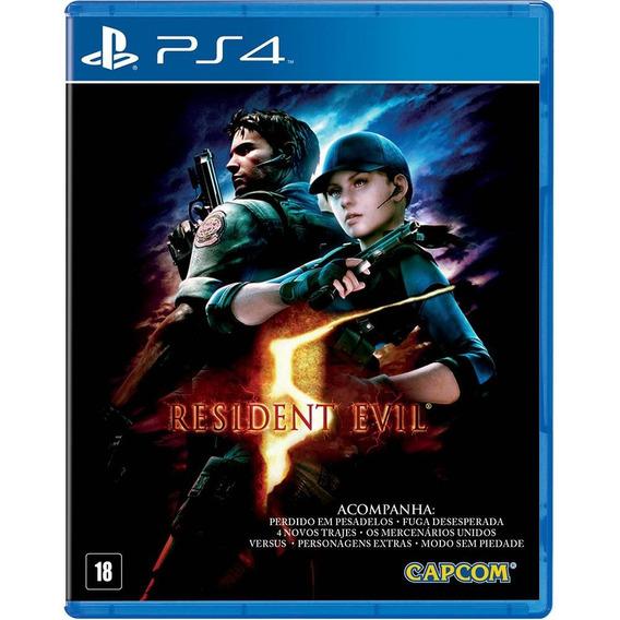 Jogo Resident Evil 5 Ps4 Mídia Física Lacrado Promoção Br