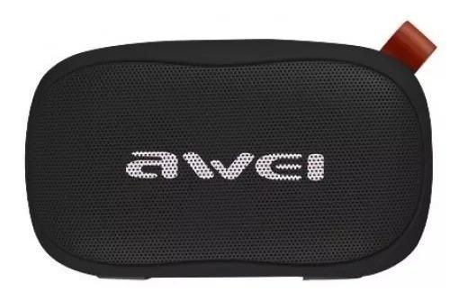 Caixa Som Awei Bluetooth Portátil Entrada Cartão Cor Preto