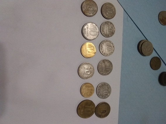Monedas Antiguas Argentinas. De 10 Cv.cantidad 12