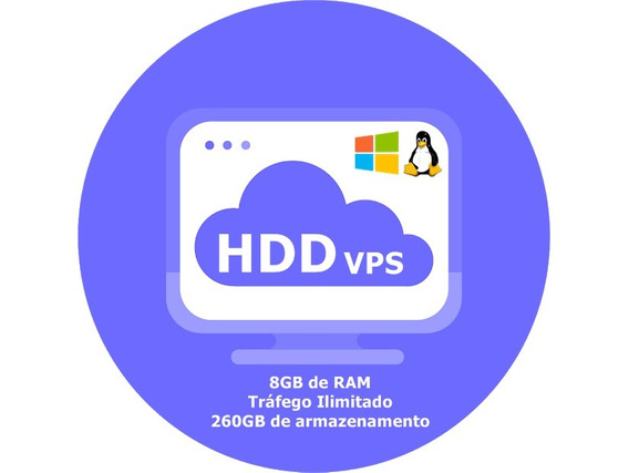 Servidor Vps / 8gb Ram / 260gb Hdd / 4x3.8ghz / Anti-ddos