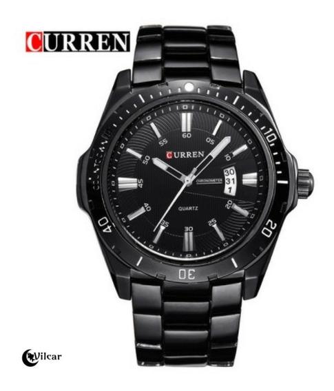 Relógio Masculino Curren 8110 - Preto/preto