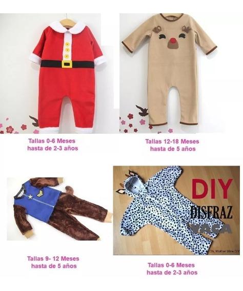 Patrones Pijama De Navidad Disfraces Niños Niñas Bebe 2x1