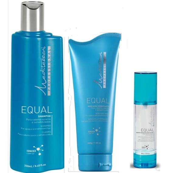 Mediterrani Equal Sh 250ml + Másc 200g + Shine Gloss 50ml