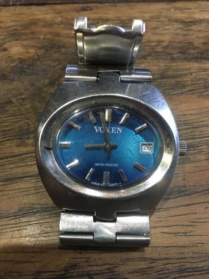 Relógio A Corda Voken De Pulso Antigo N Automat Calendar 008