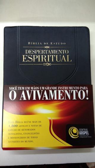 Bíblia De Estudo Despertamento Espiritual - Capa Luxo Preta
