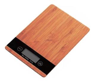 Balanza Cocina Alimentos Digital Madera Bamboo 1gr A 5 Kg F
