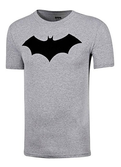 Playera Juvenil Hombre Batman Ltx Tdbat002wb Gris S5