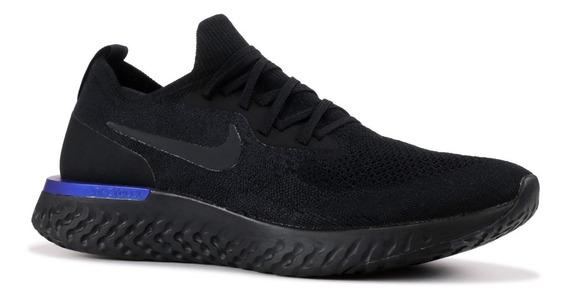 Nike Epic React Flyknit 2 Black Racer Blue