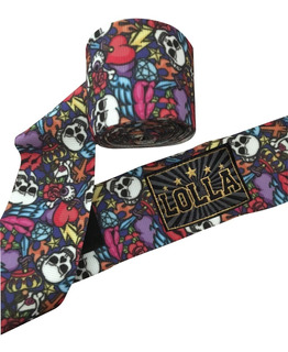 Bandagem Elástica - Kit 2 Pares - 5m Muay Thai - Lolla (estampada)