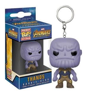 Llavero Funko Pop Thanos Marvel Original Purpura Funnyland