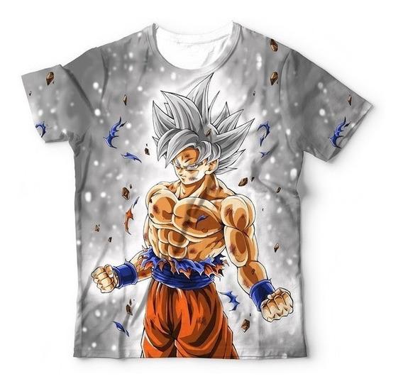 Camiseta Goku Instinto Superior Completo Dbz Super