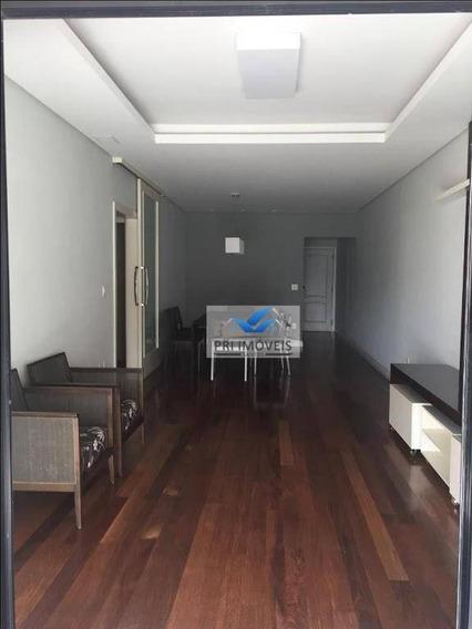Apartamento Com 3 Dormitórios À Venda, 131 M² Por R$ 745.000,00 - Pompéia - Santos/sp - Ap0180