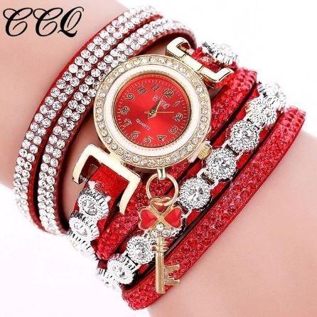 Relógio Ccq Feminino Com Bracelete Pulseira Pingente Luxo
