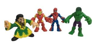 Set Figuras Super Heroes Spiderman Avengers Imaginext