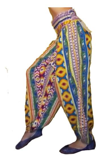 Amplio Pantalon Hindú Tipo Babucha Hippie Chic Boho