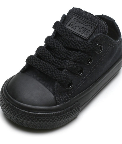 Tênis All Star Converse Kids Preto Monochrome - Original