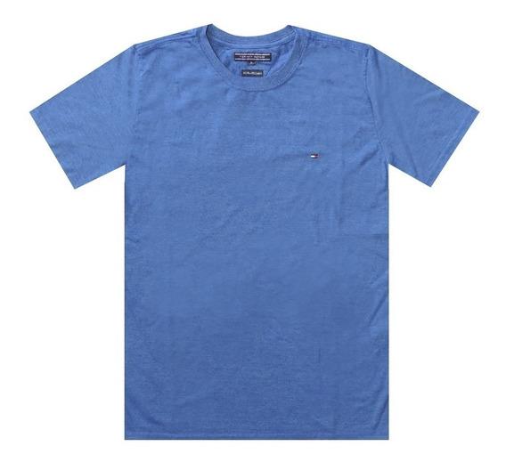 Camiseta Tommy Hilfiger Clássica Basica Azul Original