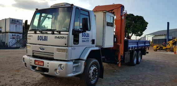 Caminhão Ford Cargo Modelo 2422e Com Guindauto 20.000