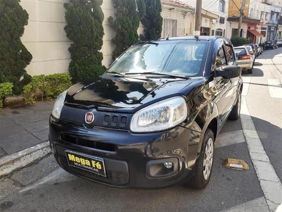 Fiat Uno Attractive 1.0 Preto Completo 2016 Km Baixo Doc Ok