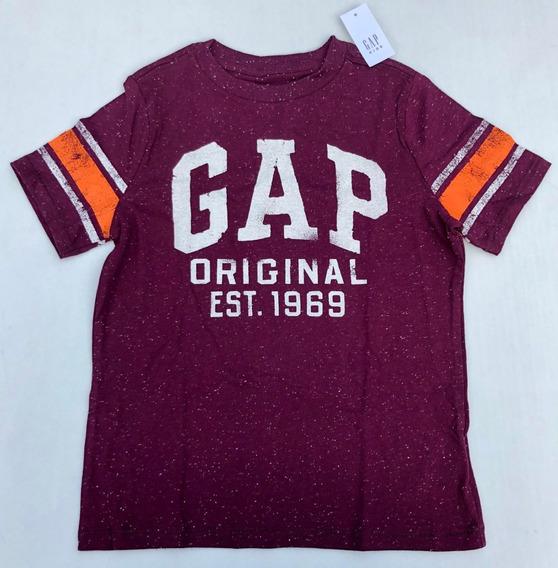 Gap Camiseta O Playera Manga Corta Niño Talla S 6-7 Años