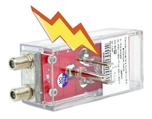 Imagen 1 de 9 de Protector Contra Rayos Contacto Eléctrico Coaxial E-clamper