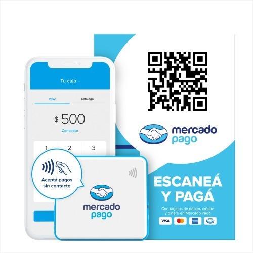 Imagen 1 de 8 de Kit Mercado Pago Point Mini + Qr