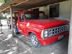 Ford F-1000 1986 Vermelha 2 Portas, Carroceria Madeira