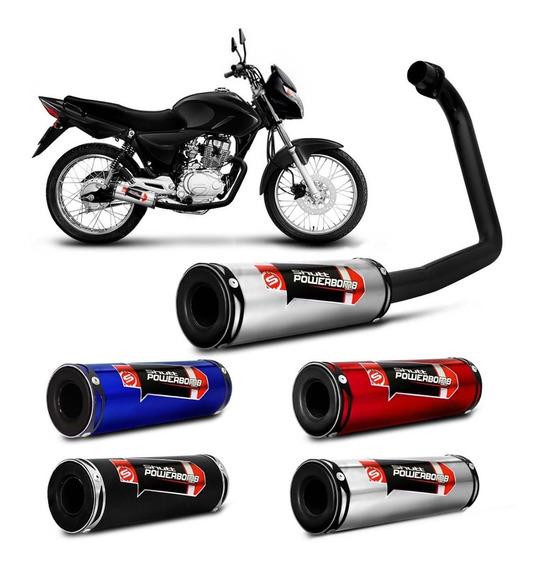 Escapamento Esportivo Moto Cg Fan 125 Ks Es 2013 2015 Shutt