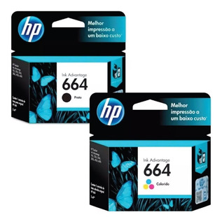 Cartucho Hp 664 Negro + Color Combo 2675 2135 3635 3775 4675