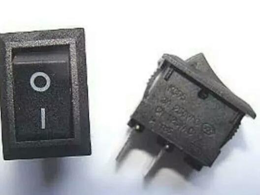 Kit 100pcs Interruptor 12amp Preto/branco E Vermelho Atacado