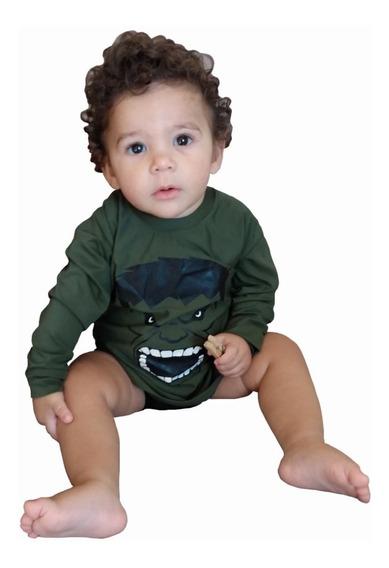 Camiseta Infantil Hulk Com Proteção Solar Uv 50+