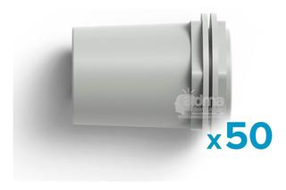 Conector 3/4 Pvc 20mm Caño Rígido Tubo Electricidad Pack X50