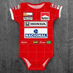 Body Ayrton Senna Mclaren Fórmula 1 Infantil Corrida Bebê