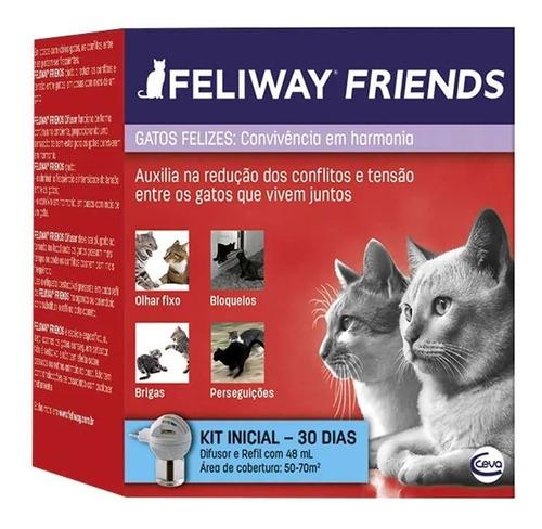 Imagem 1 de 3 de Feliway Friends Kit Difusor Com Refil 48ml - Ceva