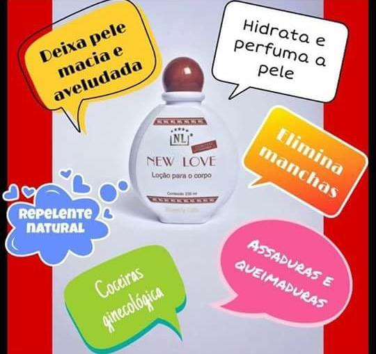 02 Loções New Love Para Queimadura Manchas/original Promoção