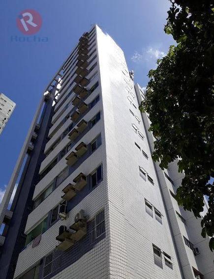 Apartamento Com 3 Dormitórios À Venda, 70 M² Por R$ 370.000,00 - Casa Forte - Recife/pe - Ap3341