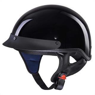 Motocicleta Yescom Casco De Media Cara Dot Aprobado Moto Cru