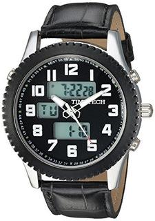 Reloj Digital Analógico Para Hombre Timetech 2814bk Viva