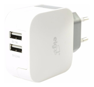 Carregador Universal Usb P/ Celular E Tablet ELG Branco