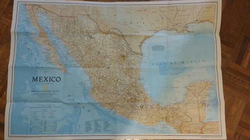 Mapa Mexico 1994 En Inglés