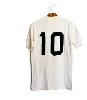 Camisa De Futebol Santos Anos 70 Athleta Com Autógrafo Pelé