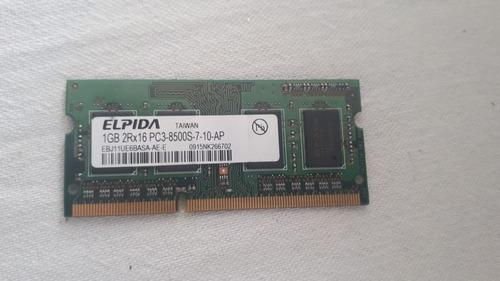 Memoria Ram Ddr 3 1 Gb. Pc3-8500s Samsung Fru 43r1989 Laptop